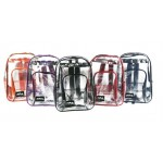 """17"""" PVC Clear Backpacks Assorted"""