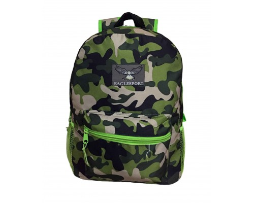 "15"" Green Camo Backpack $4.25 Each"