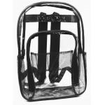 "17"" Black Clear PVC Backpack $5.50 Each."