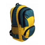 "18"" Wholesale Backpacks Yellow/Green $7.75 Each."