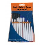 10 Pack Stick Pens Assorted