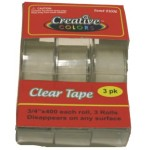 "3/4"" x 400 Clear Tape $0.84 Each."