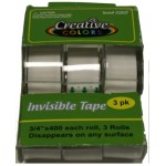 "3/4"" x 400 Invisible Tape $0.84 Each."