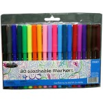 20 Pack Fine tip Washable Markers