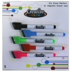 Dry Erase Fine Markers 5pk $1.38 Each