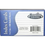 "3"" x 5"" Lined Index Cards $0.52 Each."