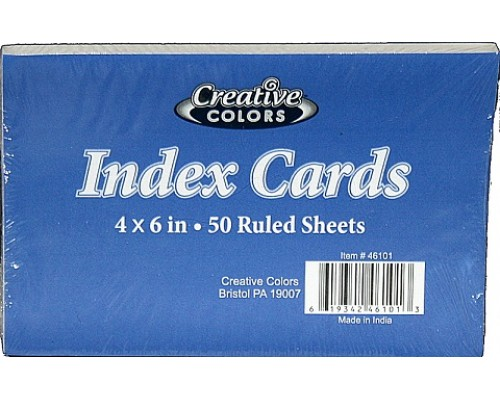 "Index Cards 4"" x 6"" $1.09 Each"