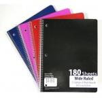 5 Subject Spiral Notebook $1.80 Each.