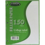 College Ruled Notebook Paper $0.95 Each.