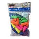 Bulk Pencil Cap Erasers 40ct.