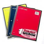 70 Sheet Top Flight Spiral Notebooks Wide Ruled