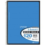 3 Subject Top Flight Spiral Notebooks College Ruled