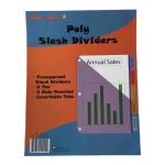 5 Tab Poly Index Divider w/ Pocket $0.98 Each