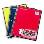 70 Sheet Top Flight Spiral Notebooks College Ruled