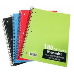 5 Subject Spiral Notebooks Wide Ruled
