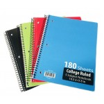 5 Subject Spiral Notebooks College Ruled