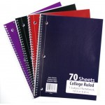 College Ruled Spiral Notebook $0.82 Each.