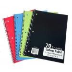 70 Sheet Spiral Notebook College Ruled