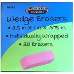 Large Pink Wedge Erasers $0.16 Each