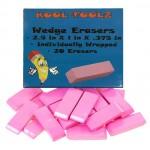 Bulk Pink Wedge Erasers