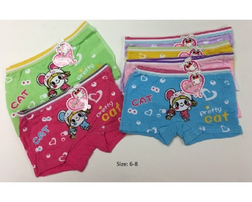 6-8 Girls Undies 10 pk. $10.00 Each