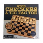 Wood Checkers & Tic Tac Toe $5.50 Each.
