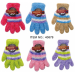Ladies Feather Gloves W/Stripe $0.79 Each.