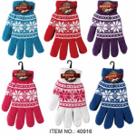 Ladies Thick Fur Lined Gloves w/ Flake $1.49 Each.